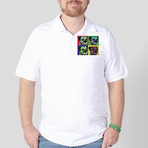 Pop Art Border Terrier Golf Shirt