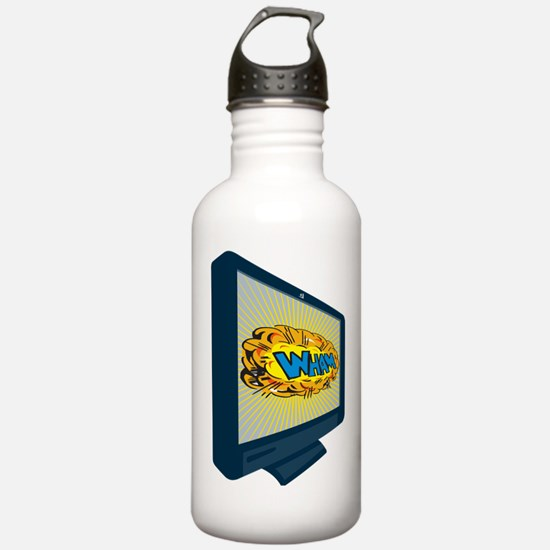 LCD Plasma TV Television Wham Water Bottle