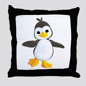 Penguin Dance Throw Pillow