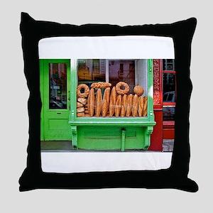 Bakery Window Throw Pillow
