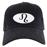 Leo Symbol Black Cap