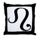 Leo Symbol Throw Pillow