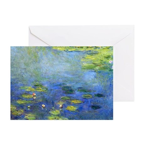 Monet - Lilies 1906 Greeting Cards (Pk of 10)