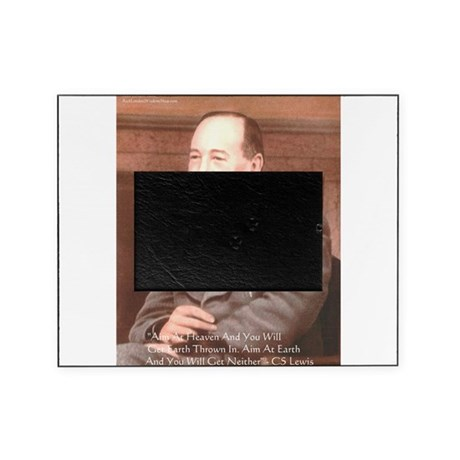 Cs Lewis Aim At Heaven Quote Gifts Picture Frame By Quotegifts