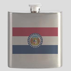 Missouri State Flag Flask