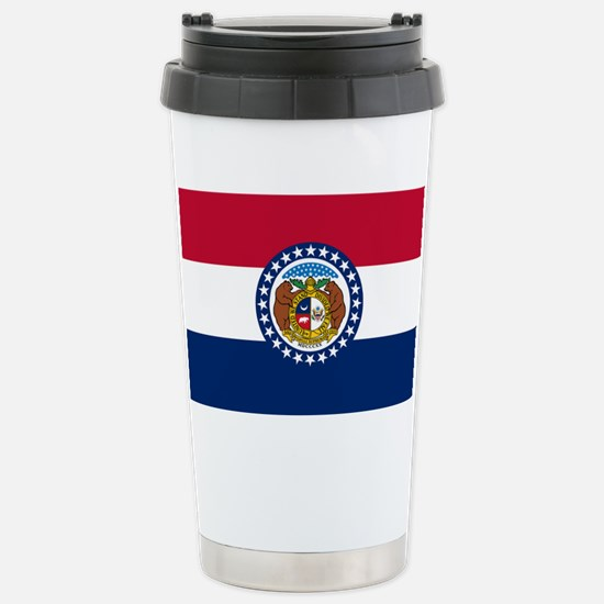 Missouri State Flag Stainless Steel Travel Mug