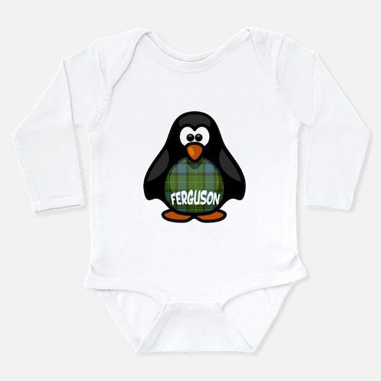 Ferguson Tartan Pengui Long Sleeve Infant Bodysuit