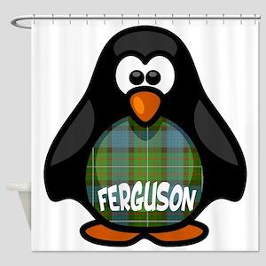 Ferguson Tartan Penguin Shower Curtain