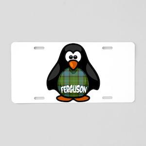 Ferguson Tartan Penguin Aluminum License Plate
