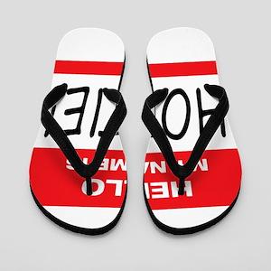 Hottie Name Tag Flip Flops