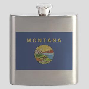 Montana State Flag Flask