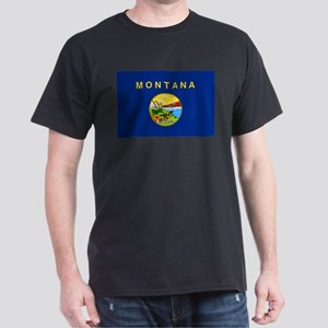 Montana State Flag Dark T-Shirt
