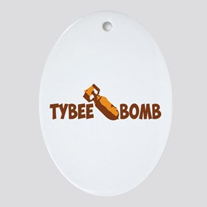 Tybee Island GA - Bomb Design. Ornament (Oval)