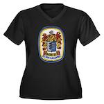 USS HENRY B. Women's Plus Size V-Neck Dark T-Shirt
