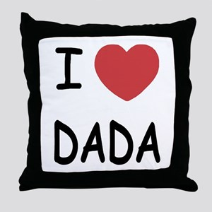I heart dada Throw Pillow