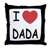 I love dada Cotton Pillows