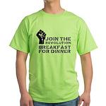 Revolution Breakfast For Dinner Green T-Shirt