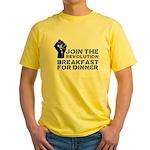 Revolution Breakfast For Dinner Yellow T-Shirt