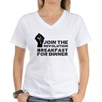 Revolution Breakfast For Dinner Women's V-Neck T-S