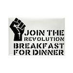 Revolution Breakfast For Dinner Rectangle Magnet