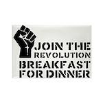 Revolution Breakfast For Dinner Rectangle Magnet (