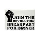 Revolution Breakfast For Dinner Rectangle Magnet (