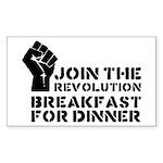 Revolution Breakfast For Dinner Sticker (Rectangle