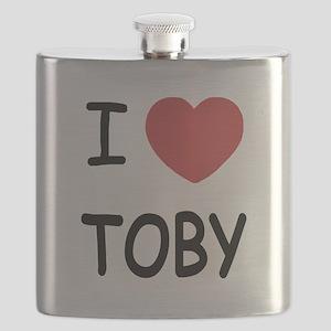 I heart TOBY Flask
