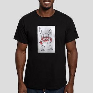 Demon Bunny Men's Fitted T-Shirt (dark)