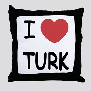I heart TURK Throw Pillow