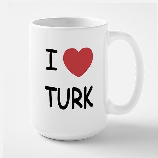 I heart TURK Large Mug