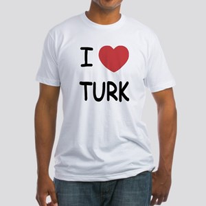 I heart TURK Fitted T-Shirt