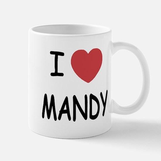 I heart MANDY Mug