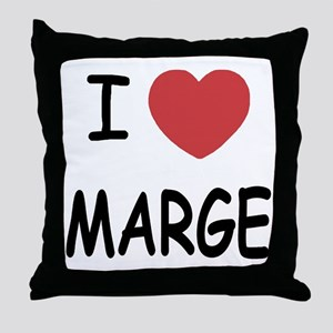 I heart MARGE Throw Pillow