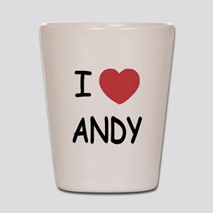 I heart ANDY Shot Glass