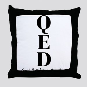 QED Throw Pillow