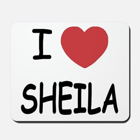 I heart SHEILA Mousepad