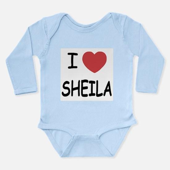 I heart SHEILA Long Sleeve Infant Bodysuit