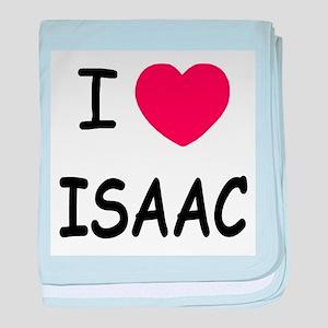 I heart ISAAC baby blanket