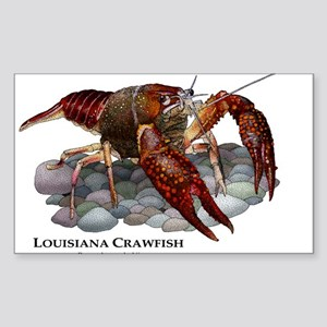 Louisiana Crawfish Sticker (Rectangle)
