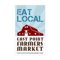 EPFM Eat Local 3x5 Decal