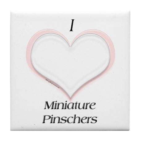 MinPin Heart Tile Coaster