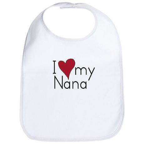 I Love Nana Bib