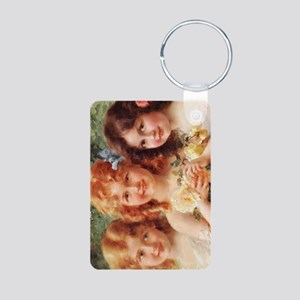 Victorian Angels Aluminum Photo Keychain