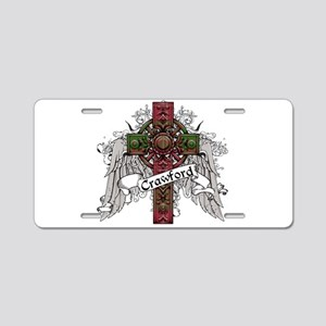 Crawford Tartan Cross Aluminum License Plate