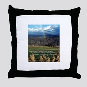 Sunny Day Rainbow Throw Pillow