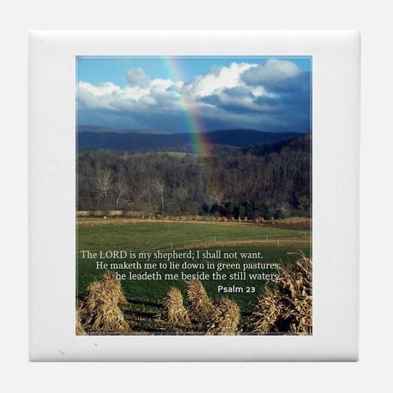 Sunny Day Rainbow Tile Coaster
