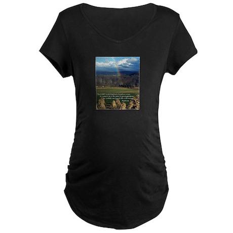 Sunny Day Rainbow Maternity Dark T-Shirt