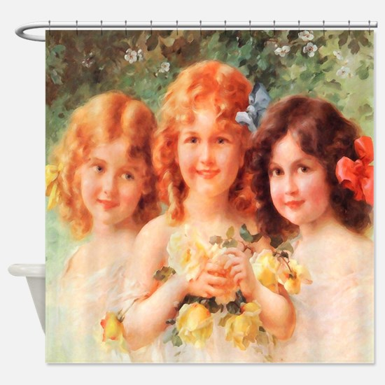 Victorian Angels Shower Curtain
