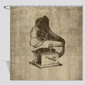 Vintage Phonograph Shower Curtain